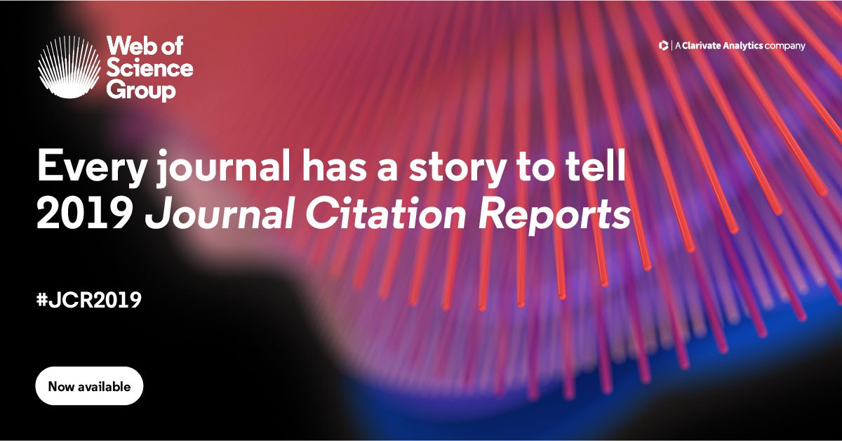 Every journal has a story to tell 2019 Journal Citation Reports
