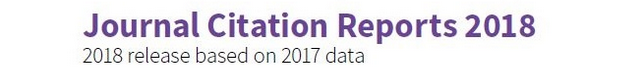 Journal Citation Report 2018. Release based on 2017 data